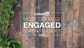 Viventis 20th Anniversary Linkedin Most Socially Engaged Staffing Agencies 2017